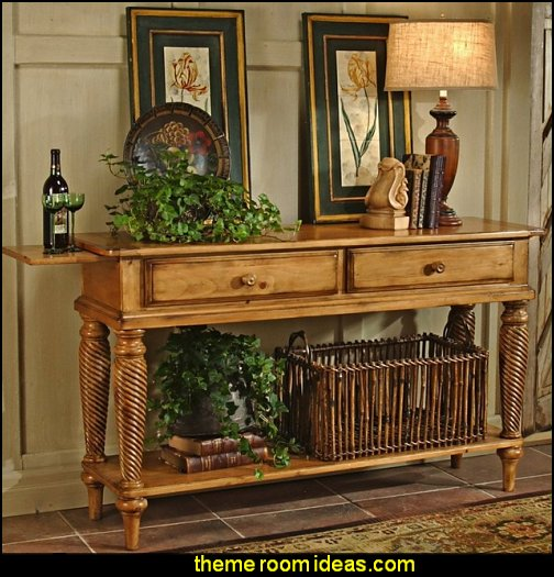 Halton Console Table  Tuscany Vineyard Style decorating - Tuscan Wall mural stickers - Tuscan themed kitchen accessories - grape decor - Tuscan theme decor - Wine barrel decor - rustic decor - Venice Italy decorating ideas - Italian Cafe - Old World  furniture - luxury bedding - tuscan themed bedroom decor