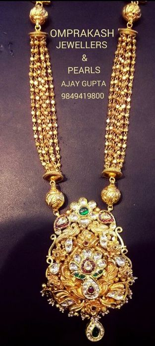 Gold Balls Chain by Omprakash Jewellers