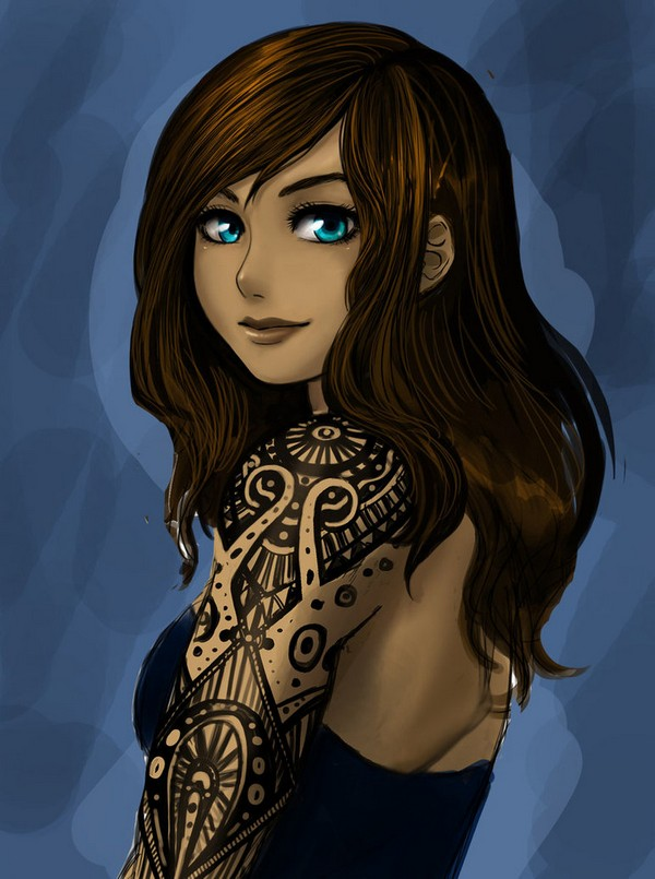 Korra- tattoos WIP by Roots-Love