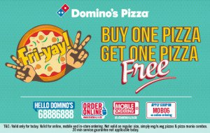 how to get a free pizza from dominos 2016