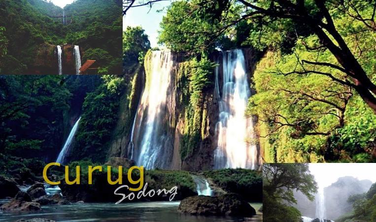 Gambar tempat wisata alam Curug Sodong Sukabumi, Jawa Barat
