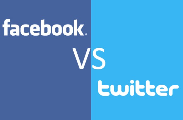 What is the difference between twitter and facebook