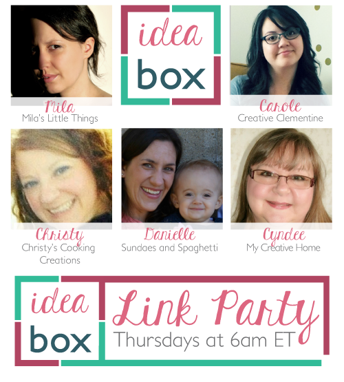 Idea Box Link Party on www.creativeclementine.com