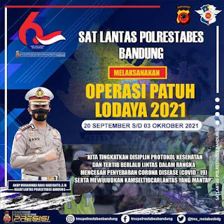 Jadwal Operasi Patuh Lodaya Mulai Tanggal 20 September – 3 Oktober 2021, Ini Yang Diincar
