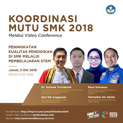 Perkongsian Online Amalan Terbaik STEM dengan MOE Indonesia