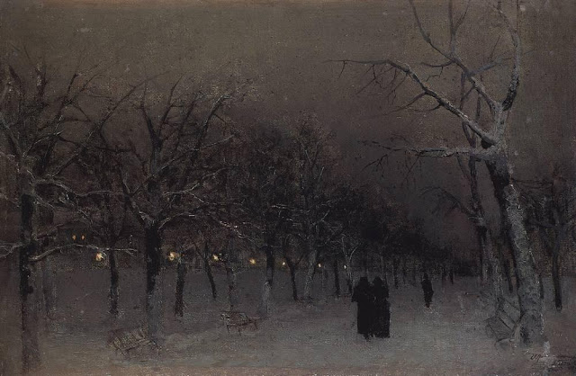 Исаак Ильич Левитан - Бульвар зимой. 1883