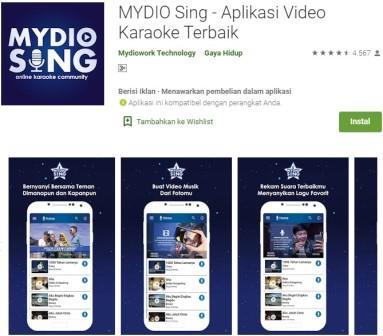 MYDIO Sing - Aplikasi Video Karaoke Terbaik