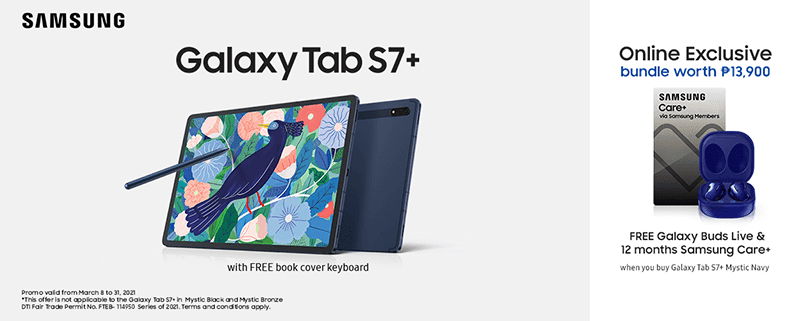 Samsung brings Galaxy Tab S7+ Mystic Navy colorway in PH, with freebies worth almost PHP 14K