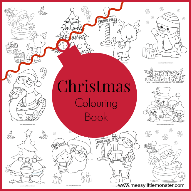 Christmas Colouring Pages Messy Little Monster