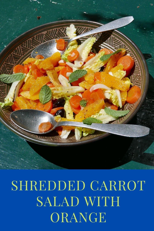 Shredded Carrot Salad With Orange