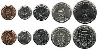 uang logam koin brunei darusalam