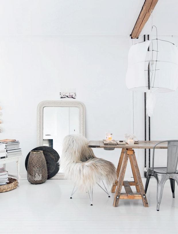 Estilismo perfecto en la casa blanca de la noruega Line Kay