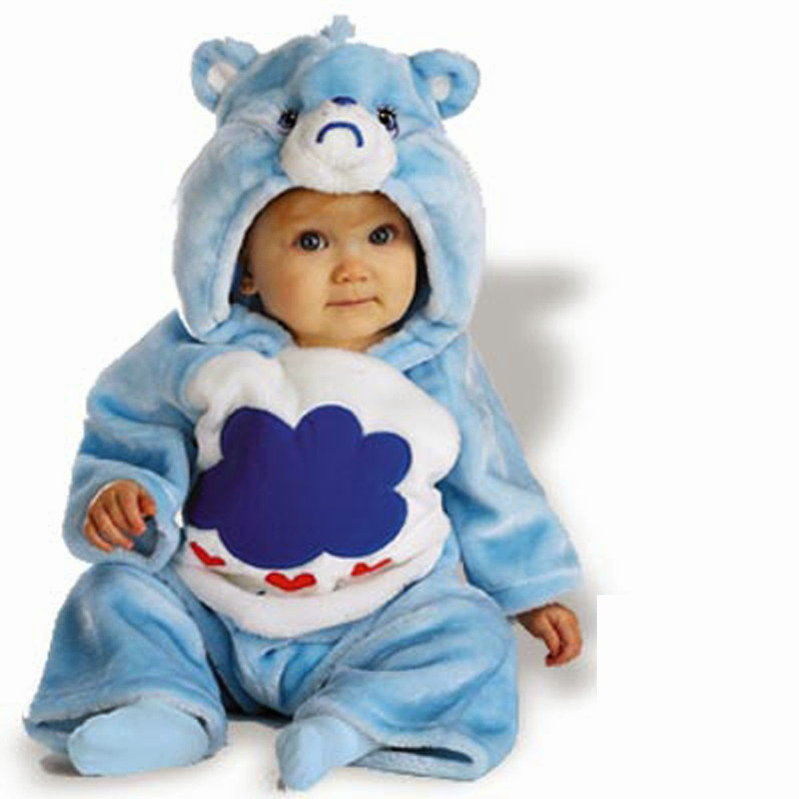 Bebés con Disfraces de los Care Bears.