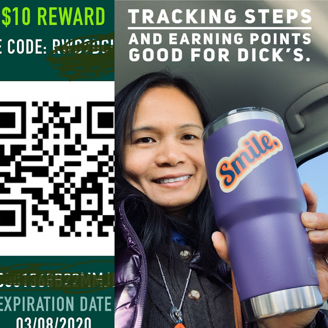 Hydrate, track activities, stay active with Dick's Sporting Goods Store. Productivity and self-care tip.