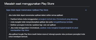 masalah saat menggunakan play store