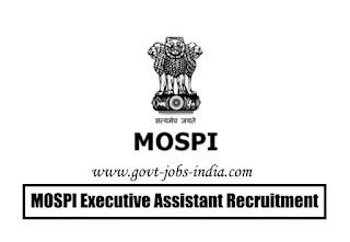 MOSPI Executive Assistant Recruitment 2020