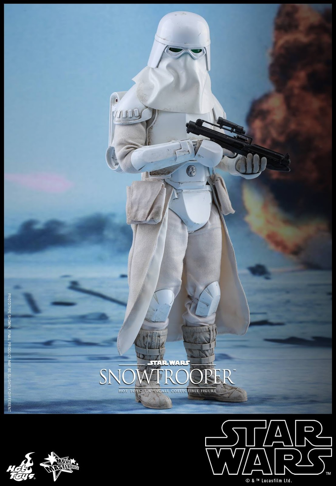 Hot Toys Star Wars Battlefront Snowtrooper Knee Pads loose 1//6th scale
