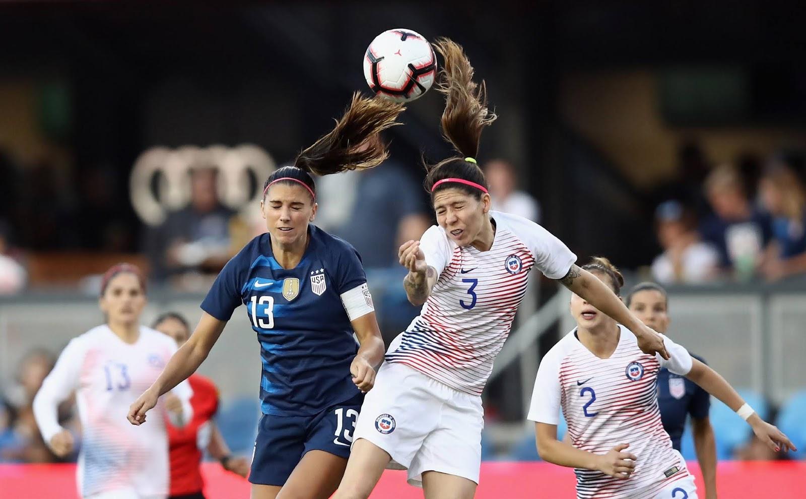Estados Unidos y Chile en partido amistoso femenino, 4 de septiembre de 2018