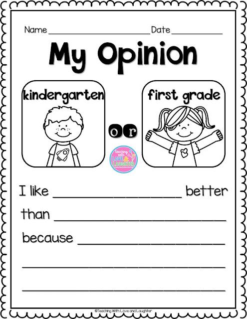 Writing an opinion template