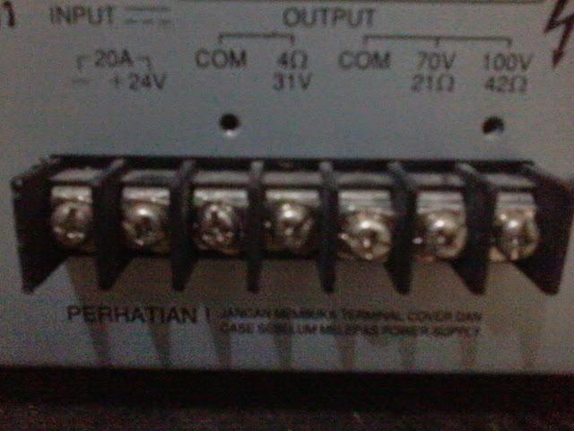 Output Impedansi Ampli Toa