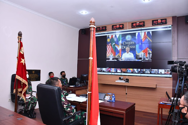 Kasum TNI Turut Konferensi Indo-Pacific Chiefs of Defense 2020 Secara Virtual