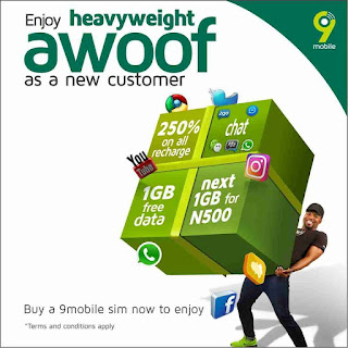See How To Activate 9Mobile Heavy Weight Awoof And Enjoy Free 1GB Of Data And More