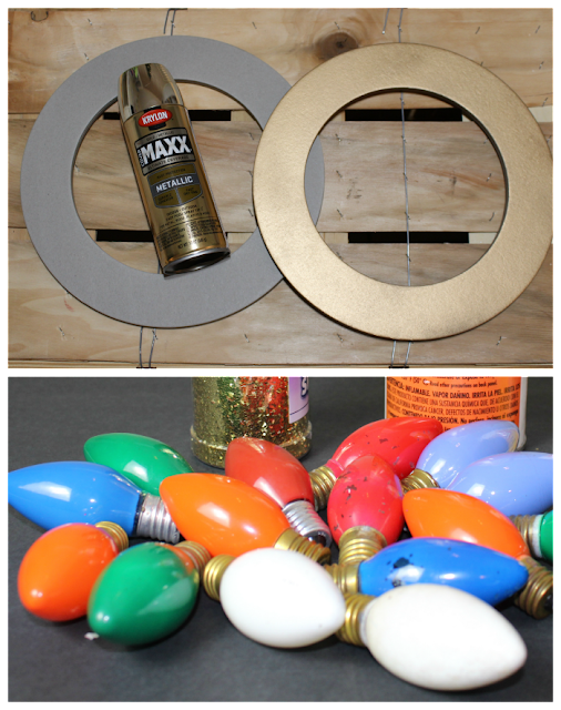 DIY180/ Christmas wreath/vintage bulbs
