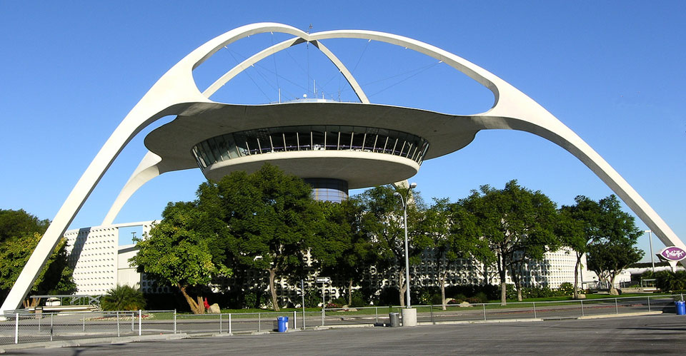 The Lax Control Tower And Theme Building As Seen From