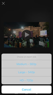 Size of Video,Rotate Video,iMovies App,iPhone,iOS