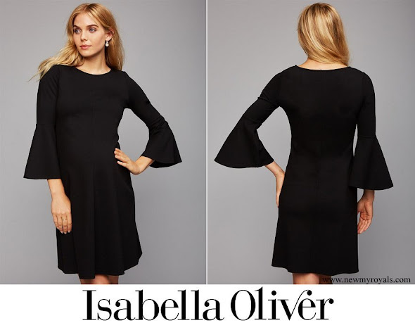 Princess Medeleine wore Isabella Oliver Natalia Bell Sleeve Maternity Dress
