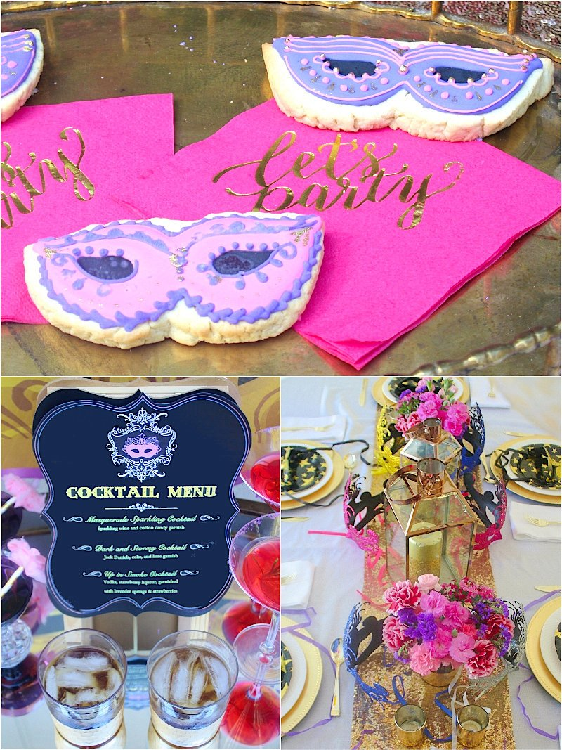 A Masquerade Ball Murder Mystery Party - a glam party theme for celebration an adult birthday, Halloween or Mardi Gras! via BirdsParty;com @birdsparty #mardigrasparty #mardigras #maskedball #masqueradeball #masqueradeparty #masqueradeballparty #venetianparty #murdermysteryparty