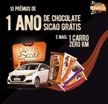 Promoção - Páscoa Sicao ganhe um ano de chocolate grátis e mais 1 carro zero km