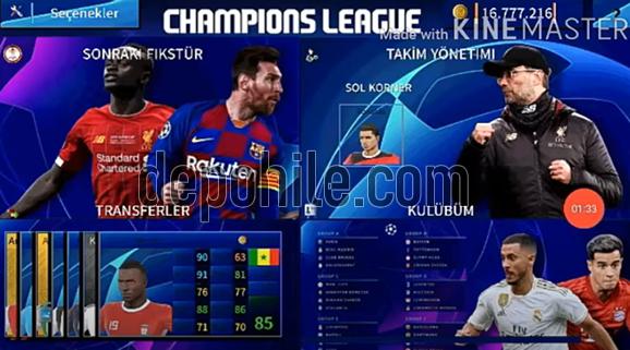 Dream League Soccer 2020 Şampiyonlar Ligi Modu İndir Kurulum