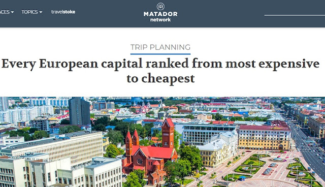 Tirana among 6 cheapest European capitals, but most costly of the Balkans