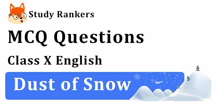 MCQ Questions for Class 10 English: Dust of Snow First Flight