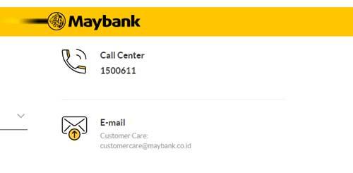 kontak maybank lengkap