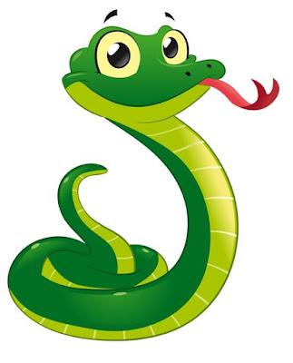 Gambar ular kartun