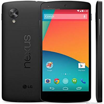 Spesifikasi LG Nexus 5  LG Nexus 5 ini yang katanya sudah di pasarkan di berbagai negara dan termasuk di Indonesia. Untuk anda-anda yang mau atau tertarik sama ponsel Android dari pabrikan LG ini maka sebaiknya anda harus menyimak dulu info-info yang sudah saya sajikan sekarang ini. Sepengetahuan saya tentang pabrikan LG ini ialah sudah banyak tipe ponsel yang mereka rilis dan di pasarkan di berbagai negara dan bukan untuk ponsel Android saja namun mereka mampu merilis ponsel yang bisa di bilang kategori Featured Phone, sehingga saking banyaknya tipe ponsel yang mereka rilis, saya saja sampai kebingungan mau milih yang mana soalnya ponsel dari pabrikan LG ini rata-rata ponsel mereka sangat berkualitas sekali dan bahkan bisa di bilang ponsel yang sangat berkelas.  LG Nexus 5 ini memang sangat lah bagus apa lagi kalo di lihat dari segi penampilannya sungguh elegan sekali dan yang pasti mesin dari ponsel ini sangatlah berkualitas seperti pada System Operating nya ialah sudah di bekali OS Android v4.4 KitKat dan di dukung dengan CPU Qualcomm MSM8974 Snapdragon 800 dan Processor Quad-Core 2.3 GHz Krait 400. Sedangkan pada bagian kameranya sendiri sudah memiliki kamera Primer 8 Megapixels dengan resolusi 3264x2448 pixels dan pada kamera Sekunder nya Yes 1.3 Megapixels. Cek selengkapnya Klik Disini.   Untuk jaringannya sendiri ialah ponsel LG Nexus 5 ini sudah memiliki GSM 850 / 900 / 1800 / 1900 dan HSDPA 850 / 900 / 1700 / 2100 MHz LTE dan kemudian pada bagian layarnya ponsel ini sudah memiliki tipe layar True HD IPS+ capacitive touchscreen dengan 16 juta warna dan sedangkan pada ukurannya ialah mempunyai ukuran layar selebar 4.95 inchi (~445ppi pixels density) dengan resolusi 1080x1920 pixels plus Multitouch dan juga Corning Gorilla Glass 3 yang mana artinya ponsel ini sangatlah tahan goresan apa pun.    Kelebihan  Layar 5 inchi True HD IPS Plus capacitive resolusi 1080 x 1920 pixels. Corning Gorilla Glass 3. Processor Qualcomm MSM8974 Snapdragon 800 Krait 400 Quad Core