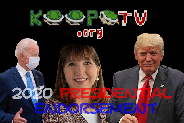 KoopaTV 2020 American presidential endorsement Joe Biden Donald Trump Jo Jorgensen