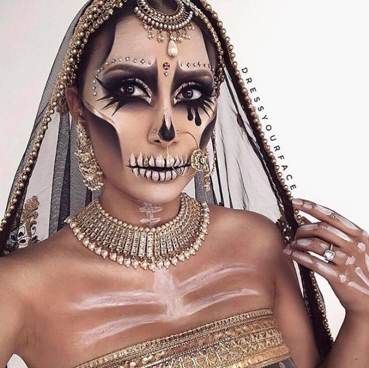 12 Great Gorgeous Interesting Halloween Makeup Looks Alittlekiran