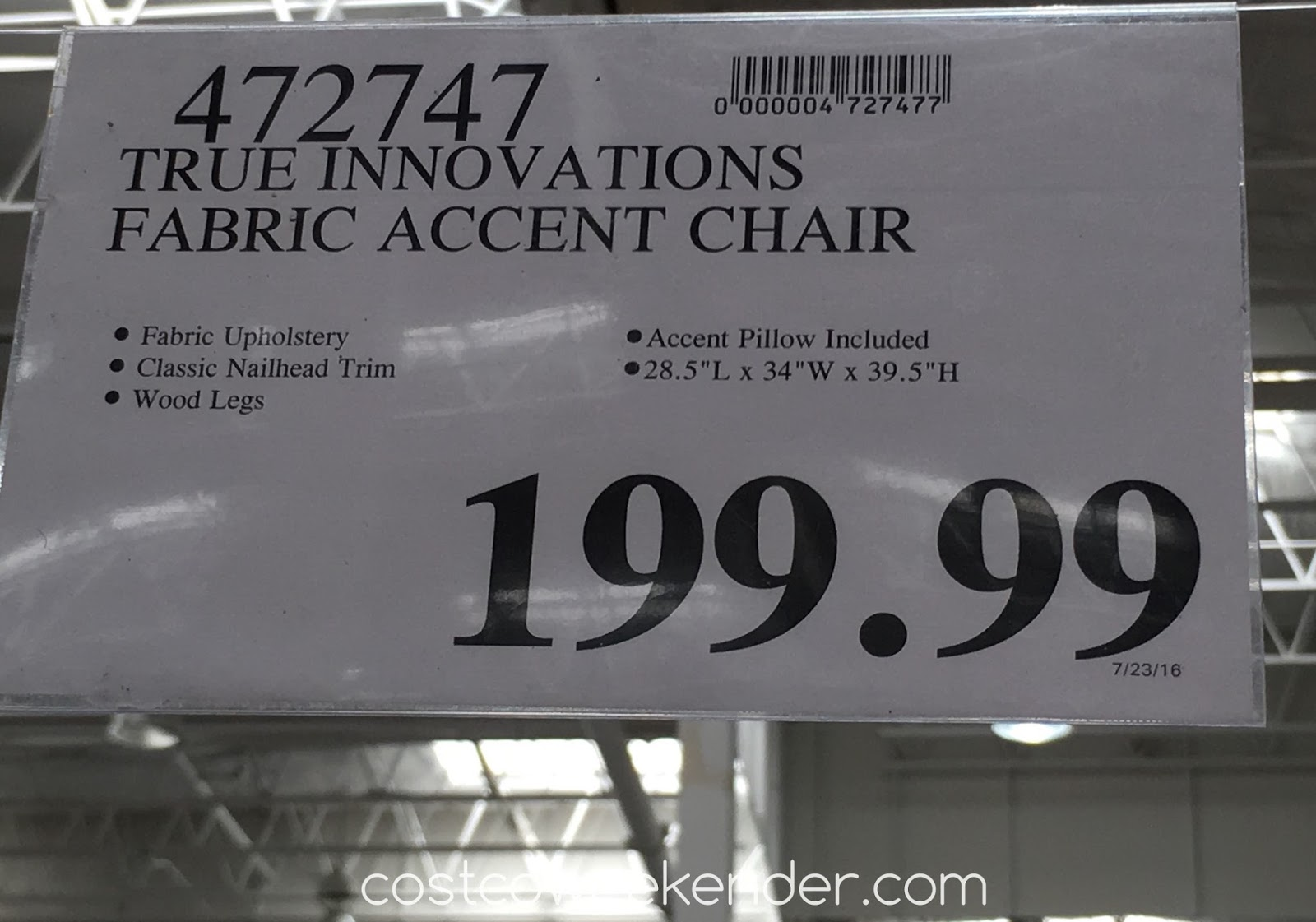 True Innovations Fabric Accent Chair | Costco Weekender
