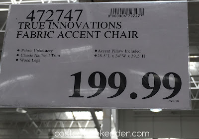 Deal for the True Innovations Accent Chair at Costco