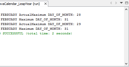 Java-Buddy: Get maximum day of month of leap year
