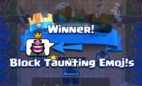 Cara blokir musuh untuk menggunakan emoji mengejek di clash royale