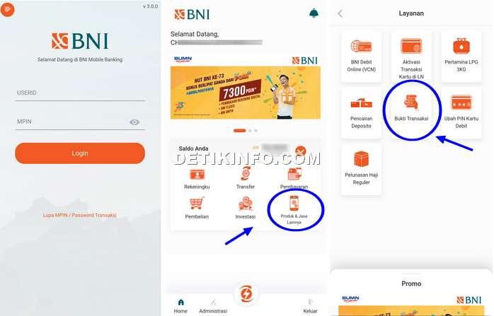 Menu baru aplikasi BNI Mobile Banking