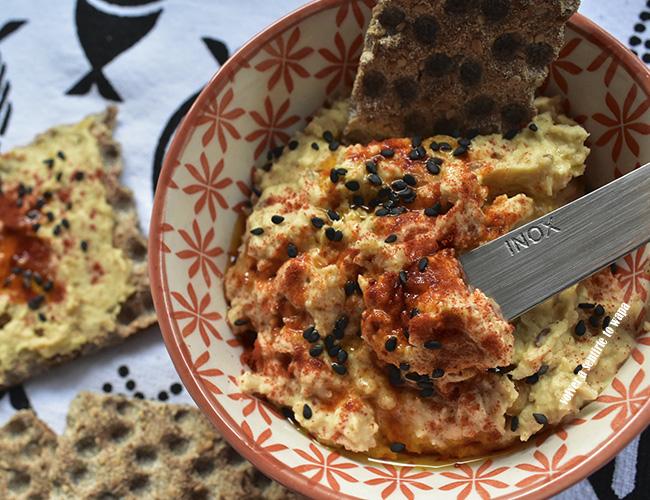 Receta Fácil de Hummus de Garbanzos