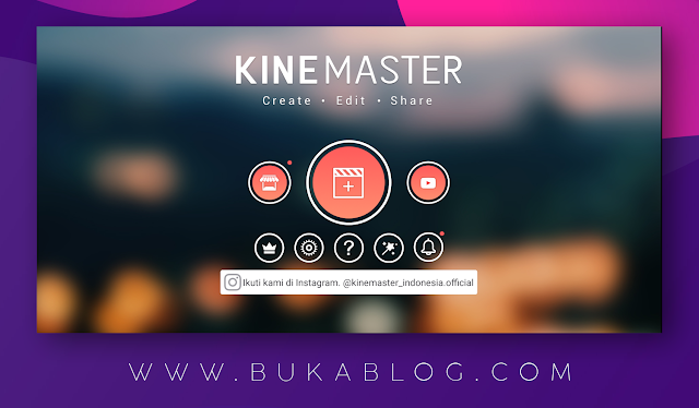 tampilan depan aplikasi kinemaster | membuat project baru