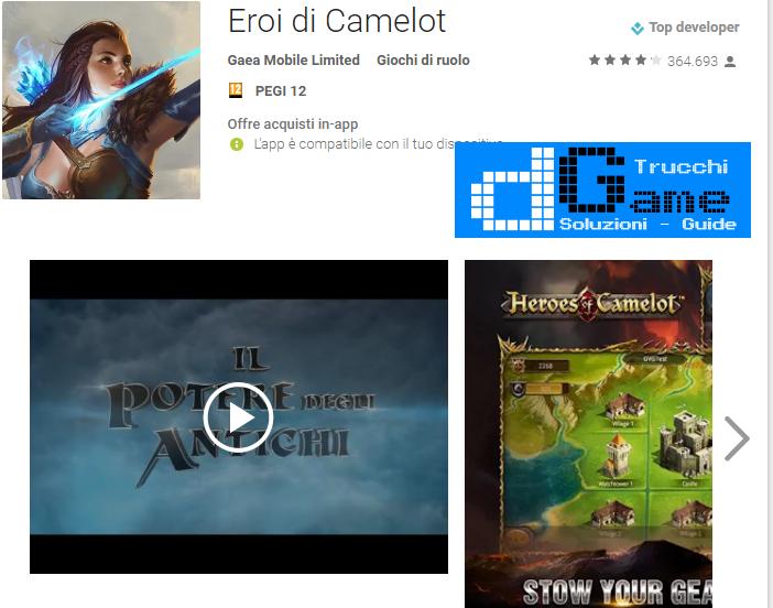 Trucchi Eroi di Camelot Mod Apk Android v2.3.3