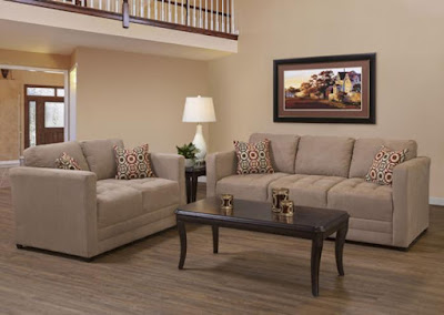 microfiber upholstered sofa and loveseat