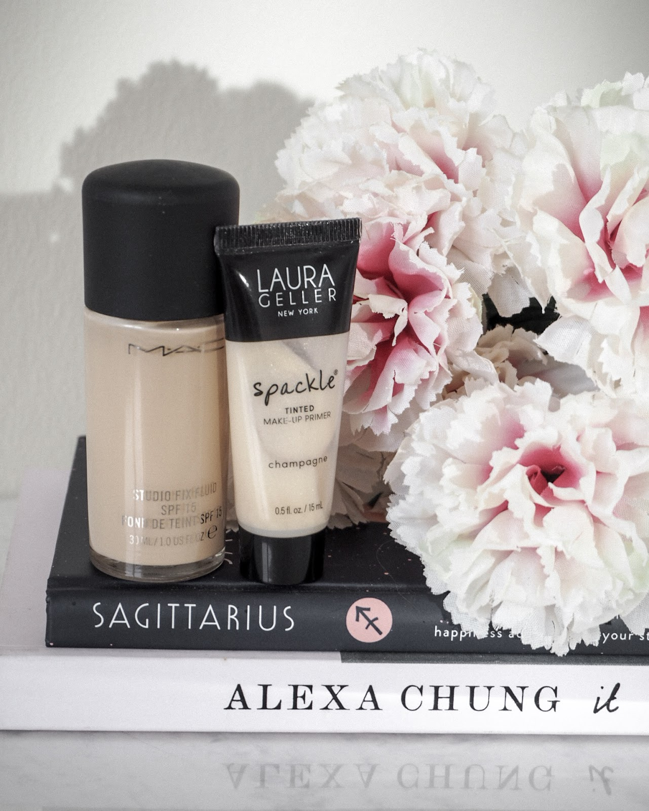 Mac Studio Fix Fluid and Laura Geller Spackle Primer